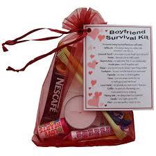Boyfriend Survival Kit Gift (Great Novelty Present For Valentines,  Birthday, Christmas, Anniversary
