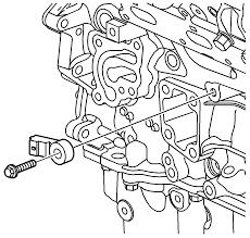 Graphic left knock sensor removal installation