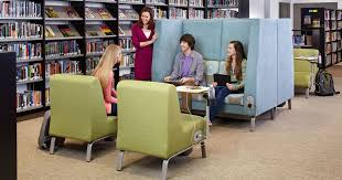 furniture for libraries. the bretford furniture company recently released library line which includes tables and chairs with power built in for charging la libraries a