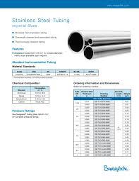 Metric Rectangular Tubing Size Chart Stainless Steel Tubing Dimensions