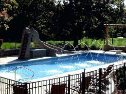 inground pools with waterslides. Wonderful With Water Slide For Inground Pool Swimming And Jets Banzai  In Ground Pools With Waterslides L