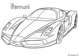 Ferrari Coloring Pages Color Bros