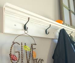 Coat Rack Shelf Diy Stunning DIY Coat Rack Shelf Sprinkle Of Joy
