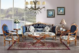 vintage wood carving sofa set with single chair replica palace living room furniture