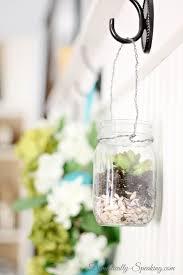 hanging mason jar succulents domestically speaking diy succulent drawing mason jar terrarium kit wedding succulents