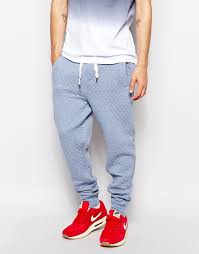Native youth Quilted Sweat Pants in Blue for Men   Lyst & Gallery Adamdwight.com