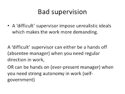 Bad Supervisors Stress Management The Impact Of Supervision