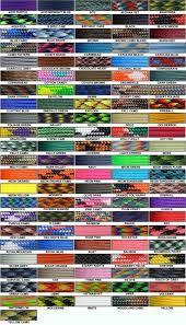 Paracord Planet Color Chart Paracord Color Chart Paracord Braids Paracord Parachute