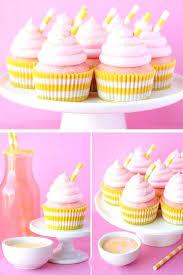 diy edible baby shower favors ideas for girls pink lemonade cupcakes