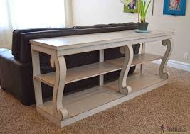 How to Build a Console Table with Scroll Legs