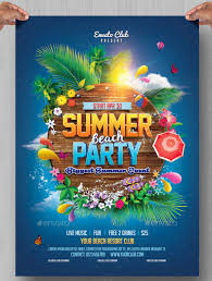 Summer Party Flyers Summer Flyer Templates Tirevi Fontanacountryinn Com