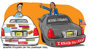 political campaign bumper stickers romney and obama bumper sticker campaign cartoon cartoon