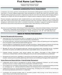 Resume Template Business Business Administrator Resume Template