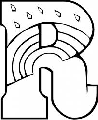Letter R Coloring Pages - FunyColoring