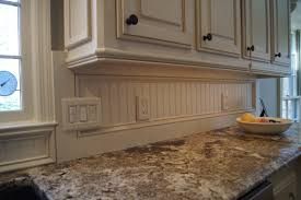 Trim Under Cabinets Check Out The Beadboard Backsplash Also Light Rail Molding Added