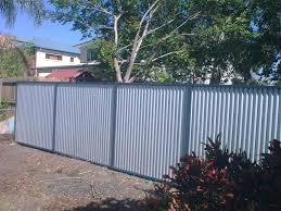 used corrugated metal privacy fence