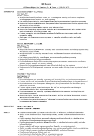 Property Manager Resume Samples Velvet Jobs