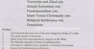 pak education info terrorism essay for f a fsc b a bsc students