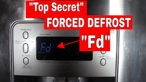 FORCED (manual) DEFROST mode on a Samsung Refrigerator--Top Secret Setting