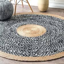 round jute rug 8 causal natural fiber jute and cotton token black round rug jute rug