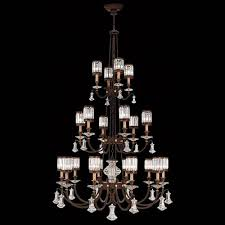 fine art lamps eaton place 20 light chandelier in rustic iron finish