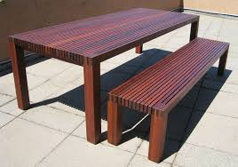 Image Plans Enchanting Long Wooden Custom Handmade Japanese Dining Table With Rail Seat Benches On Concrete Floors As Decorate In Country Dining Room Furnishing Designs Estoyen Enchanting Long Wooden Custom Handmade Japanese Dining Table With