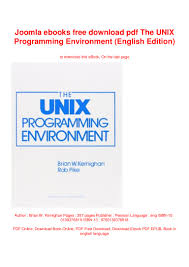 The Design Of The Unix Operating System Ebook Free Download Joomla Ebooks Free Download Pdf The Unix Programming
