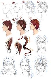 drawing anime hair by moni158 on deviantart