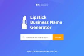 lipstick business name generator