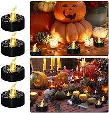 <b>Halloween LED</b> Candles Pumpkin Spider Web Fake Candles ...