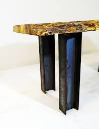 custom made industrial modern stee i beam pedestal coffee table legs