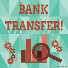 Word Writing Text Bank Transfer Business Photo Showcasing