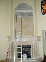 travertine marble fireplace surround