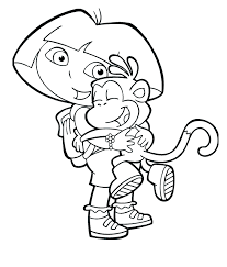 Dora Coloring 1 Dora Coloring Pages And Printables Website