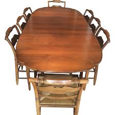 Lane Dining Room Sets Vintage Hitchcock Dining Set Table 2 Leaves Amp 6 Chairs Rush