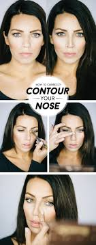 Best Hairstyle For Large Nose 25 Best Ideas About Nose Contouring On Pinterest Nose Makeup