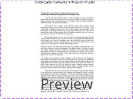 Kindergarten sentence writing worksheets - Research paper Writing ...
