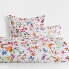 erfly print bed linen