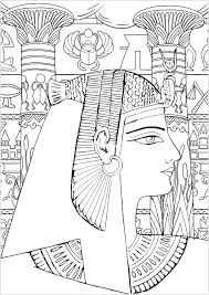 Select from 33504 printable crafts of cartoons, nature, animals, bible and many more. Queen Of Egypt Easy Version Egypt Adult Coloring Pages