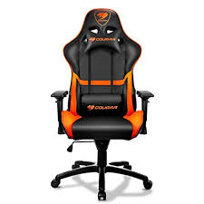 comfortable gaming chair. Simple Comfortable Cougar Armor Comfortable Gaming Chair OrangeBlack  Ergonomic Design  Breathable PVC Leather Intended Chair