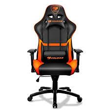 comfortable gaming chair. Interesting Gaming Cougar Armor Gaming Chair Black And Orange In Comfortable U