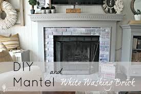 Mantel On Brick Fireplace The Fireplace Reveal Seeking Lavendar Lane