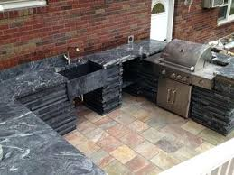 outdoor soapstone countertop options grill kitchen