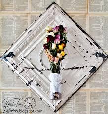 Repurposed Ball Jar Antique Ceiling Tile as Wall Flower Vase Display via  Knick of Time