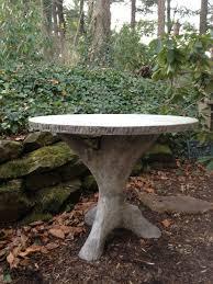 custom made concrete faux bois garden table
