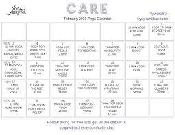 Calnedar Calendar Yoga With Adriene