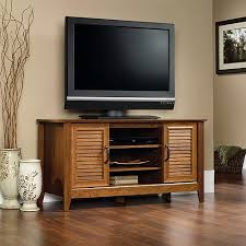 tv stand. sauder milled cherry panel tv stand for tvs up to 47\ tv