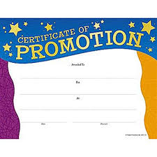 certificate of promotion template promotion gold foil stamped certificates positive promotions