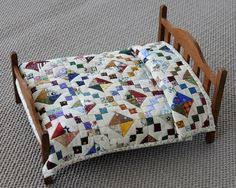Maybe there will be time to make a bed and quilt! The real AG bed ... & Jewel Box miniature quilt Approx. 6