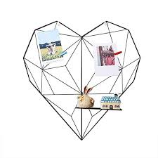 House of Quirk <b>Metal Heart</b>-<b>Shaped</b> Photo Grid <b>Frame</b> Wall Photos ...